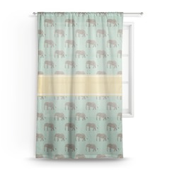 Elephant Sheer Curtains (Personalized)