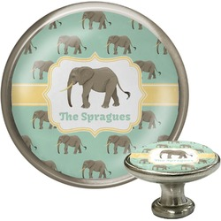 Elephant Cabinet Knob (Silver) (Personalized)