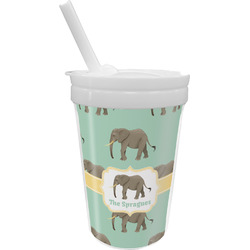 Elephant Sippy Cup with Straw (Personalized)