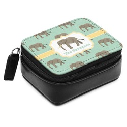 Elephant Small Leatherette Travel Pill Case (Personalized)