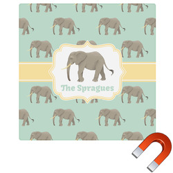 Elephant Square Car Magnet (Personalized)