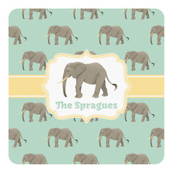 Elephant Square Decal - Medium (Personalized)