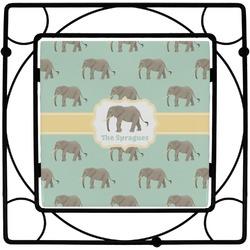 Elephant Square Trivet (Personalized)