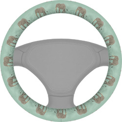 Elephant Steering Wheel Cover (Personalized)