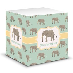 Elephant Sticky Note Cube (Personalized)
