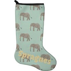 Elephant Holiday Stocking - Neoprene (Personalized)