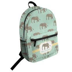 Elephant Student Backpack (Personalized)