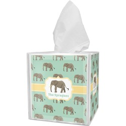 Elephant Tissue Box Cover (Personalized)