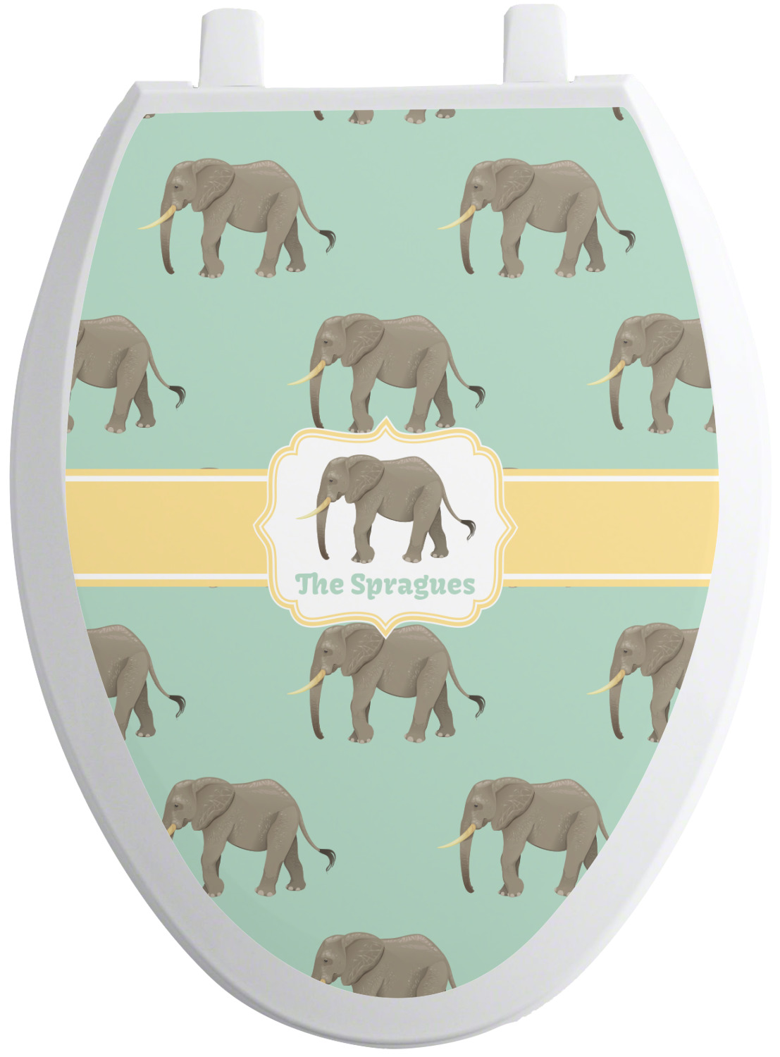 Elephant Toilet Seat Decal Elongated Personalized