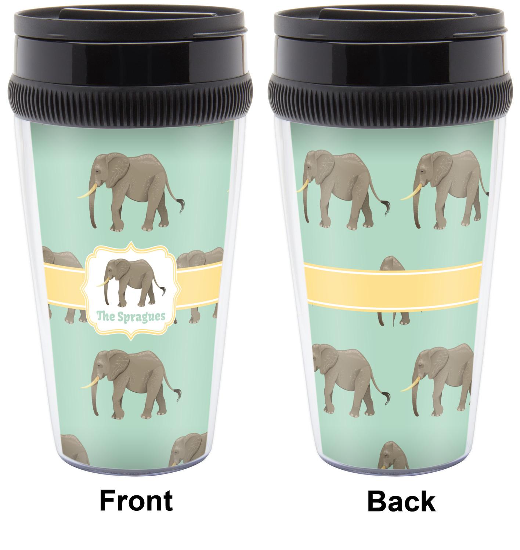 Elephant Travel Mugs Personalized