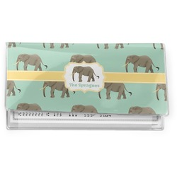 Elephant Vinyl Check Book Cover (Personalized)
