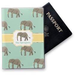 Elephant Vinyl Passport Holder (Personalized)