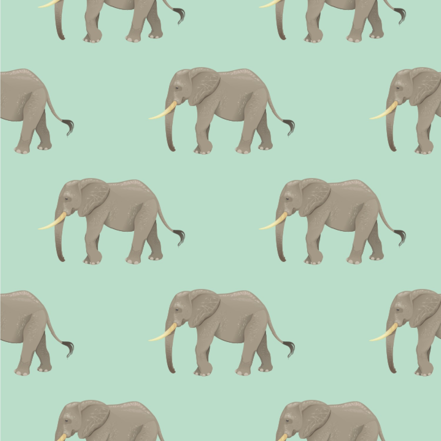 Elephant Wallpaper Surface Covering
