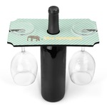 Elephant Wine Bottle & Glass Holder (Personalized)