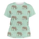 Elephant Women's Crew T-Shirt (Personalized)