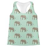 Elephant Womens Racerback Tank Top (Personalized)