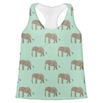 Elephant Womens Racerback Tank Top (Personalized)