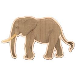 Elephant Genuine Maple or Cherry Wood Sticker (Personalized)