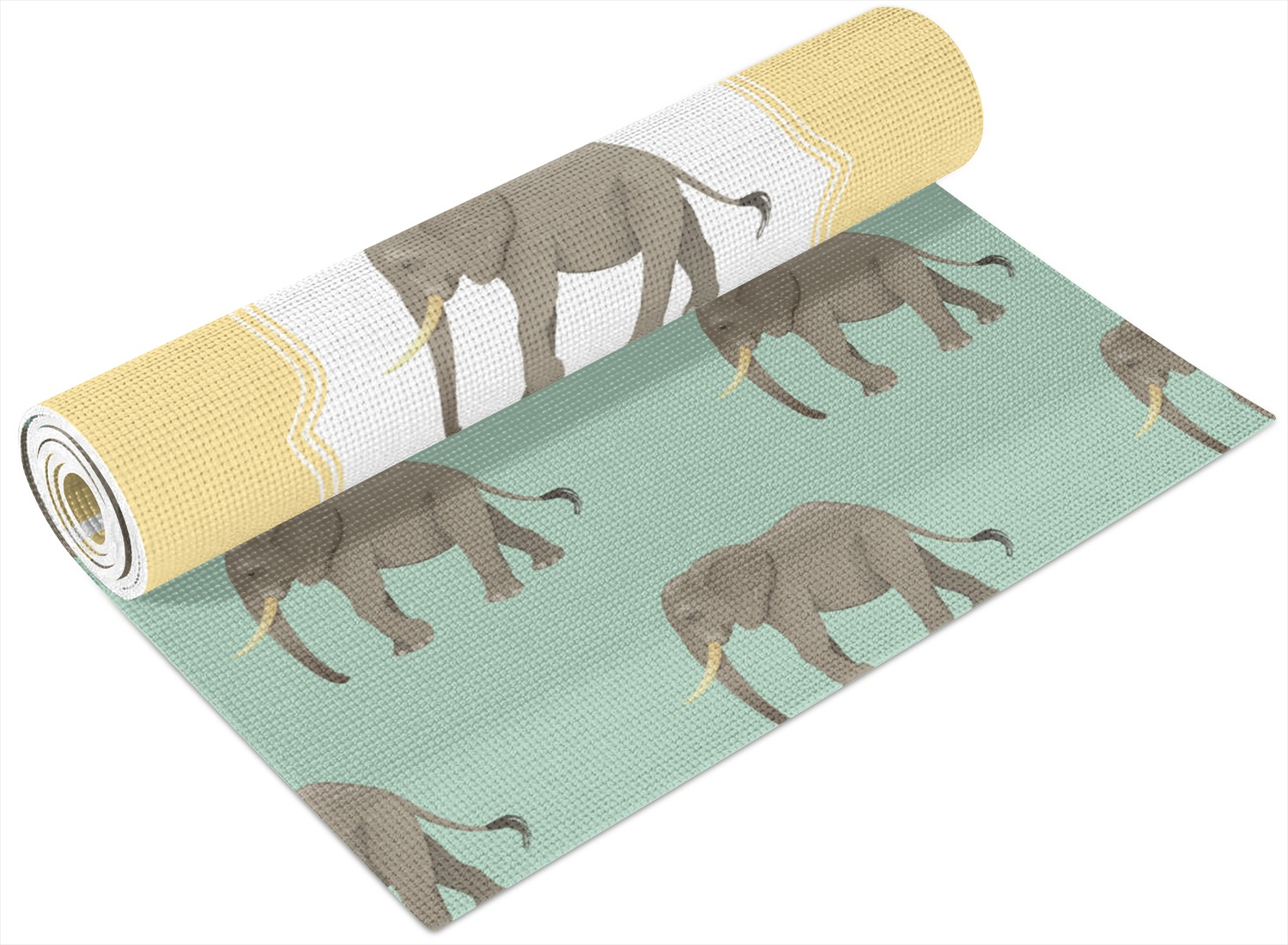 Elephant Yoga Mat Printed Front And Back Personalized