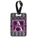 Knit Argyle Aluminum Luggage Tag (Personalized)