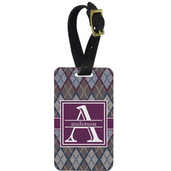 Knit Argyle Aluminum Luggage Tag (Personalized)