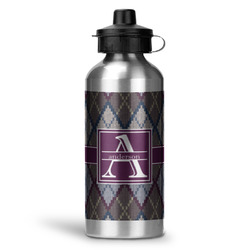 Knit Argyle Water Bottle - Aluminum - 20 oz (Personalized)