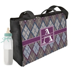 Knit Argyle Diaper Bag (Personalized)