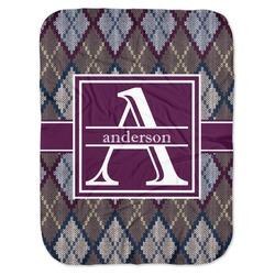 Knit Argyle Baby Swaddling Blanket (Personalized)