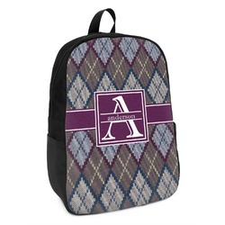 Knit Argyle Kids Backpack (Personalized)