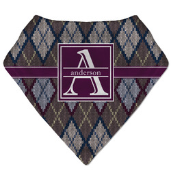 Knit Argyle Bandana Bib (Personalized)