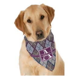 Knit Argyle Dog Bandana Scarf w/ Name and Initial