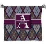 Knit Argyle Bath Towel (Personalized)
