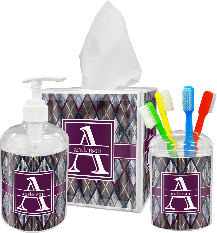 Knit Argyle Toothbrush Holder Personalized Youcustomizeit