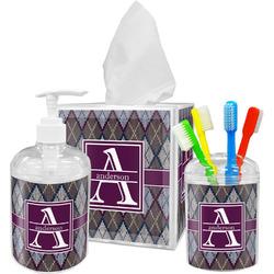 Knit Argyle Bathroom Accessories Set (Personalized)