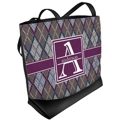 Knit Argyle Beach Tote Bag (Personalized)
