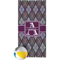 Knit Argyle Beach Towel (Personalized)