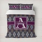 Knit Argyle Duvet Cover (Personalized)