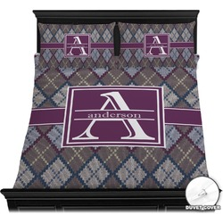 Knit Argyle Duvet Covers (Personalized)