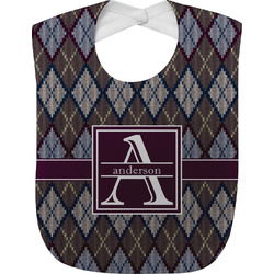 Knit Argyle Baby Bib (Personalized)
