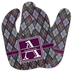 Knit Argyle Baby Bib w/ Name and Initial
