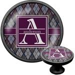Knit Argyle Cabinet Knob (Black) (Personalized)