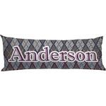 Knit Argyle Body Pillow Case (Personalized)