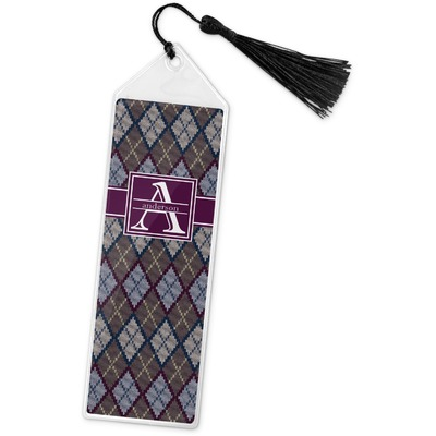 Knit Argyle Book Mark w/Tassel (Personalized)