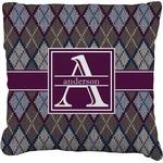 Knit Argyle Faux-Linen Throw Pillow (Personalized)
