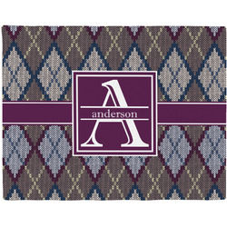 Knit Argyle Placemat (Fabric) (Personalized)