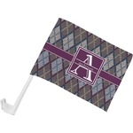 Knit Argyle Car Flag (Personalized)
