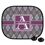 Knit Argyle Car Side Window Sun Shade (Personalized)