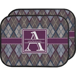 Knit Argyle Car Floor Mats (Back Seat) (Personalized)