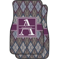 Knit Argyle Car Floor Mats (Front Seat) (Personalized)