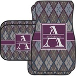 Knit Argyle Car Floor Mats (Personalized)